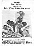 Click here to enlarge image and see more about item MSP032406B4: 1965 WILSON Strata-Bloc Woods GOLF CLUB Ad