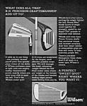Click here to enlarge image and see more about item MSP032406B5: 1968 WILSON X-31 GOLF CLUBS Ad