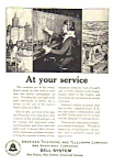 Click here to enlarge image and see more about item MTEL010407A2: 1925 AT&T TELEPHONE Phone Ad