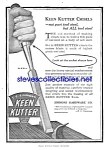 Click here to enlarge image and see more about item MTL030507C8: 1918 KEEN KUTTER FILE - TOOL Ad L@@K!