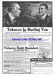 Click here to enlarge image and see more about item MTO030707E8: 1924 BANISH TOBACCO Snake Oil QUACK Ad