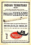 1959 PHILLIES CHEROOTS CIGAR Tobacciana Ad