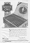 Click here to enlarge image and see more about item MTO042006H4: 1920 WHITE OWL Cigar Mag. Ad