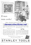 Click here to enlarge image and see more about item MTOOL010407F9: 1927 STANLEY CHEST OF TOOLS Ad