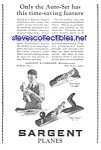 Click here to enlarge image and see more about item MTOOL122106C5: 1926 Sargent WOOD PLANE-Tool Ad L@@K!