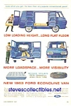 Click here to enlarge image and see more about item MTR010407B9: 1963 FORD ECONOLINE VAN Ad