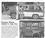 Click here to enlarge image and see more about item MTR032206B5: 1960 JEEP WAGON Truck Magazine Article