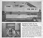 Click here to enlarge image and see more about item MTR032206B6: 1959 TRUCK CAMPER Magazine Article