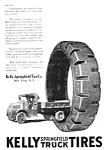 Click here to enlarge image and see more about item MTR050106H1: 1920 KELLY SPRINGFIELD TRUCK TIRES Magazine Ad