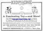 Click here to enlarge image and see more about item MTY030707G6: 1920 KIDPHONE Toy Telephone Mag Ad