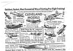 1943 CLEVELAND MODEL AIRPLANES Toy Magazine Ad