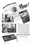 Click here to enlarge image and see more about item MU0218A1-2006: 1945 CONN MUSICAL INSTRUMENTS Music Room Ad