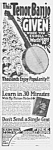 Click here to enlarge image and see more about item MU0526BB2: 1927 TENOR BANJO Music Room Ad