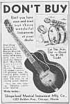 Click here to enlarge image and see more about item MU0530BB1: 1937 Slingerland GUITAR/Drums Ad