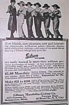 Click here to enlarge image and see more about item MU1002AA4: 1922 GIBSON MANDOLIN+ Music Room Ad!