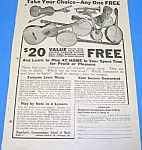Click here to enlarge image and see more about item MU1002AA6: 1925 SLINGERLAND Guitar+ MUSIC ROOM Ad