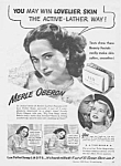 Click here to enlarge image and see more about item MV0614AA3: Cutest 1944 MERLE OBERON Lux Soap Ad