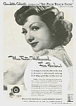 Click here to enlarge image and see more about item MV0614AA6: 1942 CLAUDETTE COLBERT Max Factor Makeup Ad