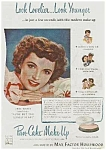 Click here to enlarge image and see more about item MV0614AA7: '44 JANE WYATT Max Factor Hollywood Makeup Ad