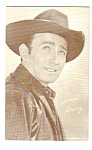 Click here to enlarge image and see more about item MWE112706F3: 1950s James Drury COWBOY Penny Arcade Card