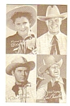 Click here to enlarge image and see more about item MWE112706H1: 1950s FOUR COWBOY Penny Arcade Card