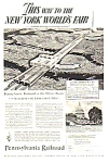 Click here to enlarge image and see more about item MWF122806B7: 1939 PENN Railroad NY Worlds Fair Magazine Ad B