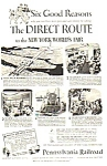 1939 PENN Railroad NY Worlds Fair Magazine Ad C