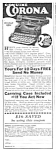 Click here to enlarge image and see more about item MWR010407A4: 1928 CORONA Portable TYPEWRITER Ad