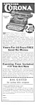 Click here to enlarge image and see more about item MWR010407B1: 1927 CORONA Portable TYPEWRITER Ad