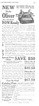 Click here to enlarge image and see more about item MWR010407C7: 1923 OLIVER TYPEWRITER Mag. Ad