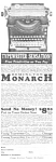 Click here to enlarge image and see more about item MWR010407C8: 1923 REMINGTON MONARCH TYPEWRITER Mag. Ad