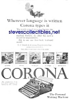 Click here to enlarge image and see more about item MWR010407D7: 1926 CORONA Portable Typewriter Ad