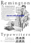 Click here to enlarge image and see more about item MWR030707E4: 1927 REMINGTON PORTABLE Typewriter Ad
