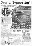 Click here to enlarge image and see more about item MWR122106F6: 1926 UNDERWOOD TYPEWRITER Ad