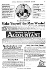 Click here to enlarge image and see more about item OCC0122A1: 1919 BECOME AN ACCOUNTANT By Mail Magazine Ad