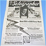 Click here to enlarge image and see more about item OCCUP1002AA1: 1925 BECOME A TELEGRAPHER Magazine Ad