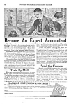Click here to enlarge image and see more about item OCUP821A1: 1920 BECOME AN ACCOUNTANT By Mail Magazine Ad