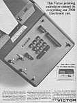 Click here to enlarge image and see more about item OF0628AA2: 1966 VICTOR PRINTING CALCULATOR Ad