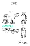 Patent Art: 1950s Milking Cow RAMP WALKER TOY - matted