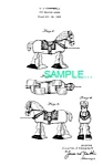 Patent Art: 1950s HORSE RAMP WALKER TOY - matted