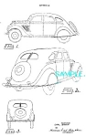 Patent Art: 1934 DESOTO AIRFLOW (Rear) AUTOMOBILE
