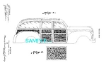 Click here to enlarge image and see more about item PAT0107B5: Patent Art: 1940 Plymouth WOODIE WOODY CAR DESIGN