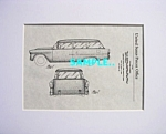 Click here to enlarge image and see more about item PAT0107C4: Patent Art: 1955 CHEVY TWO-TEN 2 DR. STATION WAGON