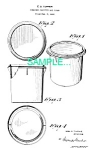 Click here to enlarge image and see more about item PAT0214AA5: **Patent: 1950s TUPPERWARE CANISTER**