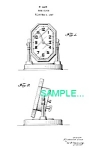 Click here to enlarge image and see more about item PAT0214AA7: Patent Art: 1920s Lux KAROLITH DESK CLOCK - Matted
