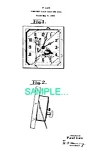 Click here to enlarge image and see more about item PAT0214BB6: Patent Art: 1930s Lux SHOESHINE BOY ANIMATED CLOCK