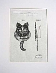 Click here to enlarge image and see more about item PAT0214CC1: Patent Art: 1930s Lux GOOD LUCK CAT PENDULETTE CLOCK