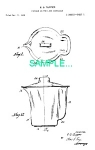 **Patent Art: 1950s TUPPERWARE PITCHER**