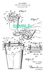 Click here to enlarge image and see more about item PAT0214EE2: **Patent Art: 1950s TUPPERWARE DISPENSER/SEAL
