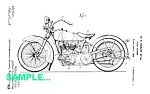 Click here to enlarge image and see more about item PAT0215AA8: Patent Art: 1920s HARLEY DAVIDSON Motorcycle - matted